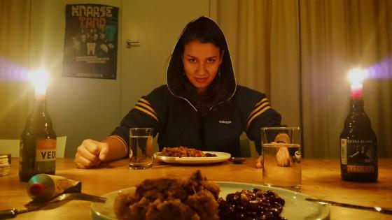 Johanneke ready for dinner