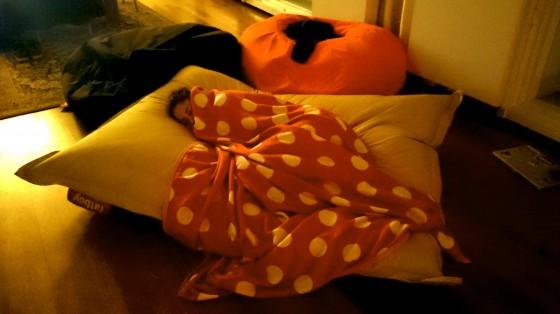 Johanneke sleeping